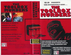 TOOLBOX MURDERS (vhs) uk - strong uncut