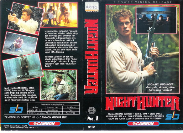 9122 NIGHT HUNTER (VHS)
