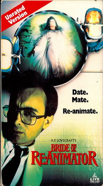 Bride of re animator vhs usa boa video for 126 incorrect key file for table