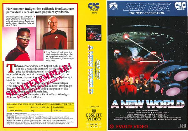 STAR TREK TNG A NEW WORLD (VHS)