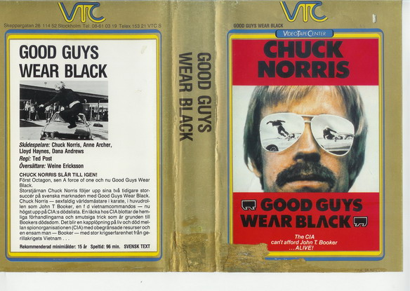 8529 GOOD GUYS WEAR BLACK (vhs)