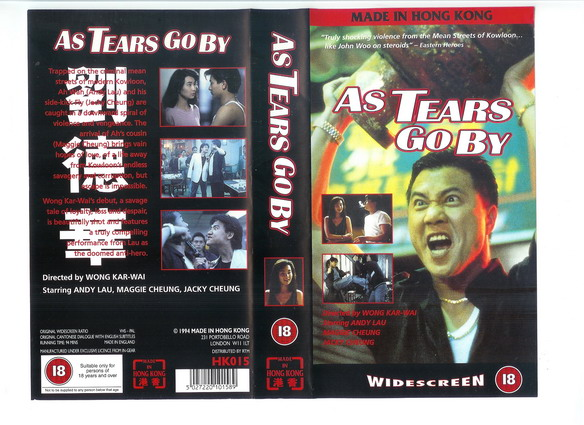 AS TEARS GO BY (vhs) uk