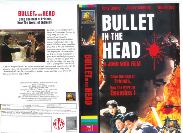 BULLET IN THE HEAD (VHS) NL