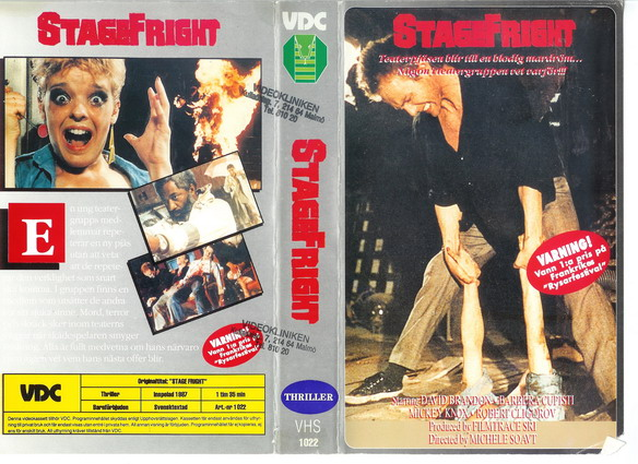 1022 STAGE FRIGHT (VHS)