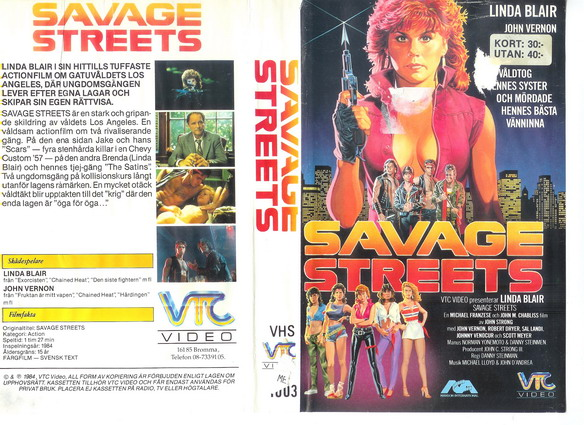 1003 SAVAGE STREETS (vhS)