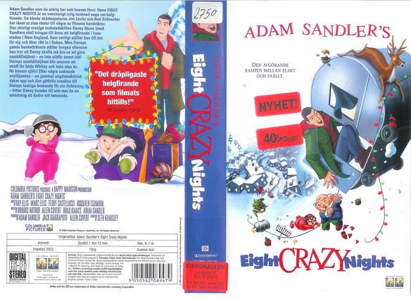EIGHT CRAZY NIGHTS (VHS)