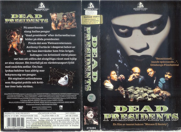 DEAD PRESIDENTS (VHS)