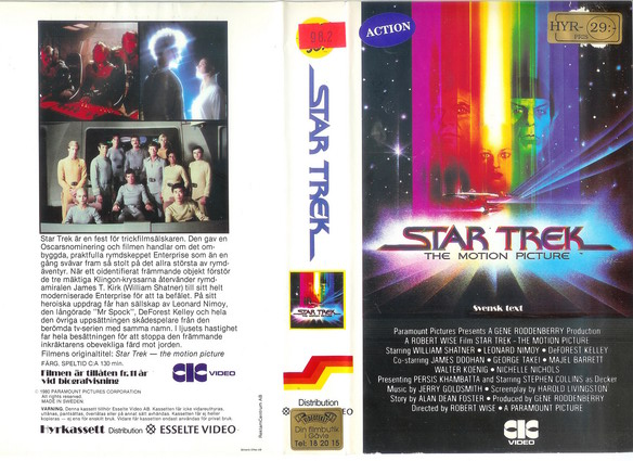 11218 STAR TREK - THE MOTION PICTURE (vhs)