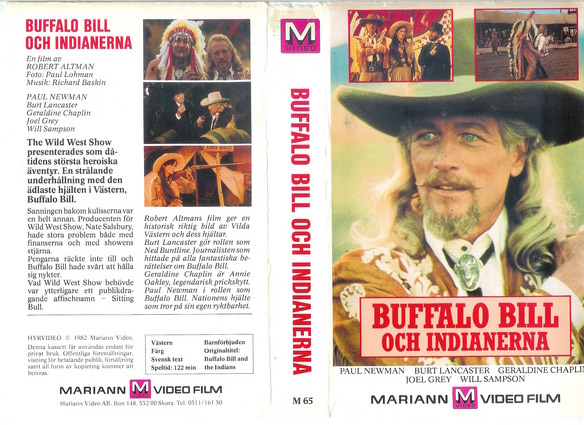M65-BUFFALO BILL OCH INDIANERNA  (VHS)