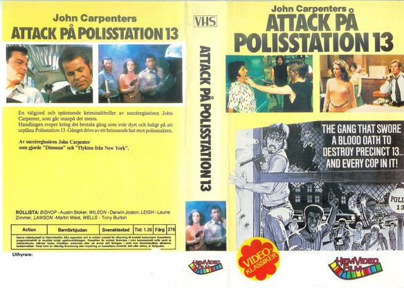 276 ATTACK PÅ POLISSTATION 13 (VHS)