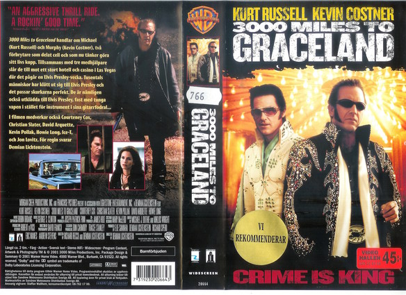 3000 MILES TO GRACELAND (VHS)