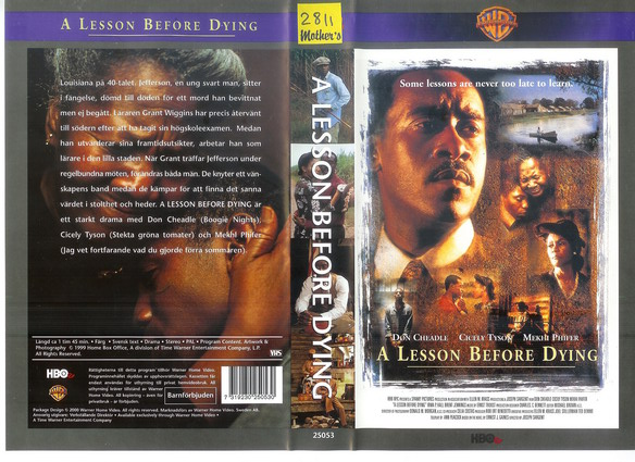 A LESSON BEFORE DYING (VHS)