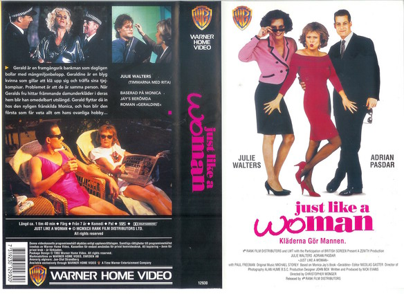 JUST LIKE A WOMAN (VHS)