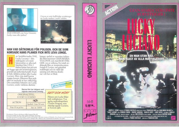 11458 LUCKY LUCIANO (vhs)