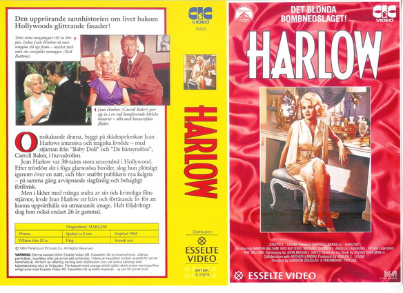 HARLOW (VHS)