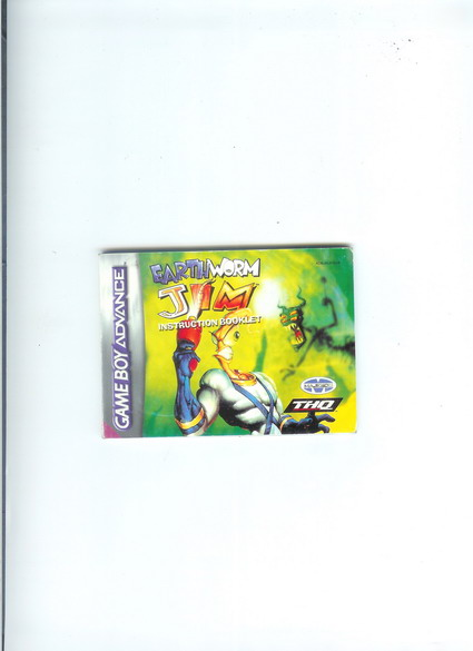 EARTH WORM JIM - GBA MANUAL