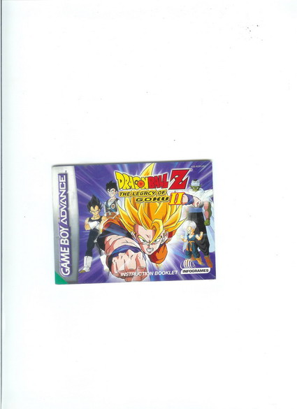 DRAGON BALL Z LEGASY OF GOKU 2 - GBA MANUAL
