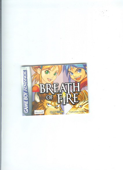 BREATH OF FIRE - GBA MANUAL