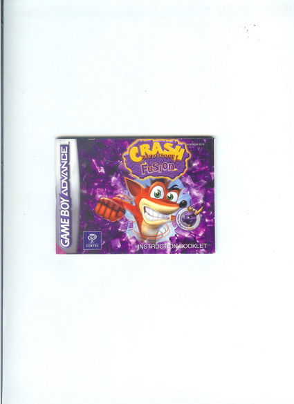 CRASH BANDICOT FUSION - GBA MANUAL