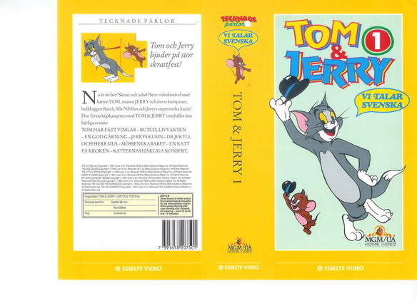 TOM & JERRY 1 (vhs)
