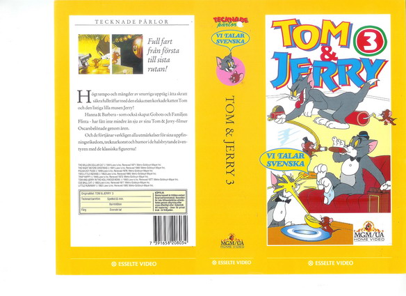 TOM & JERRY 3 (VHS)