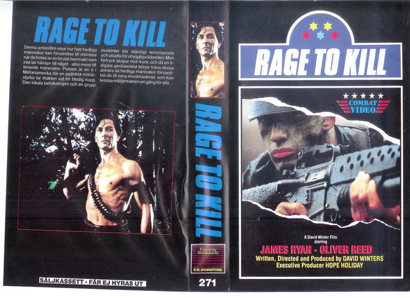 271 RAGE TO KILL  (VHS)
