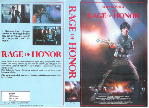RAGE OF HONOR (VHS)