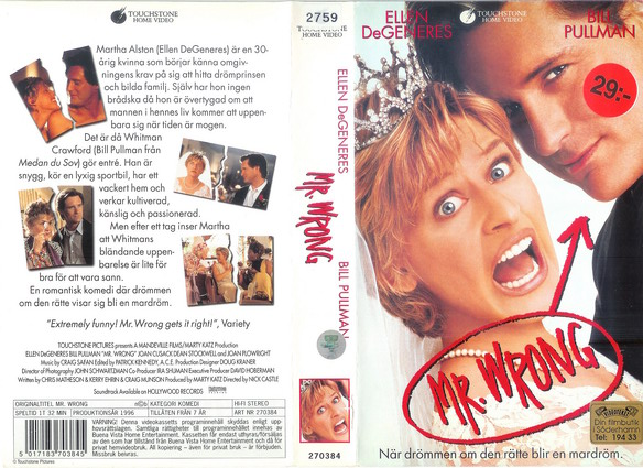 270384 MR WRONG (VHS)