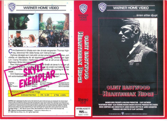 HEARTBREAK RIDGE (VHS)