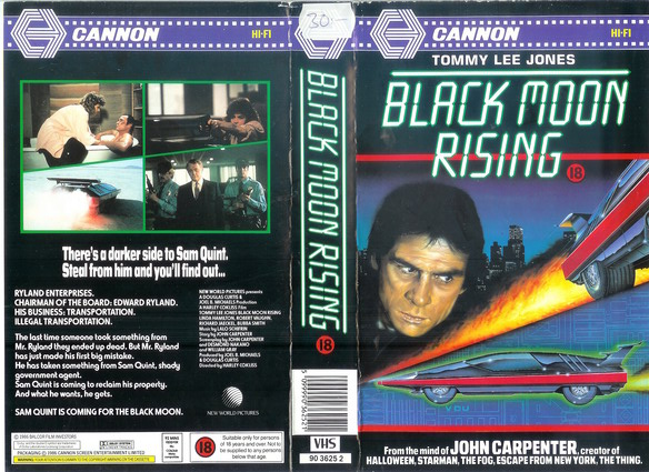 BLACK MOON RISING  - UK (VHS)