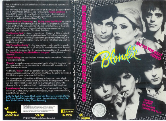 BLONDIE  EAT THE BEAT VIDEO - BETA