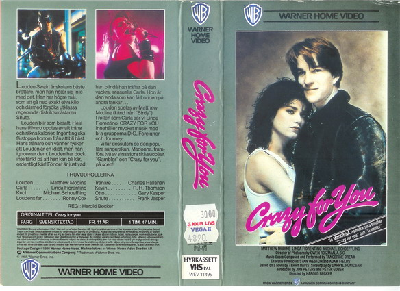 CRAZY FOR YOU (VHS)