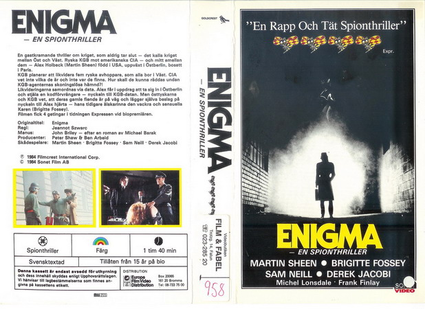 30 211 ENIGMA (vhs)