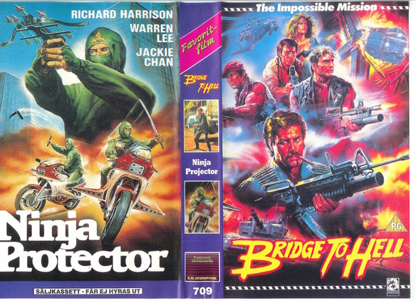 709 BRIDGE TO HELL/NINJA PROTECTOR (VHS)
