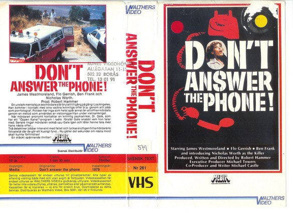 261 DON'T ANSWER THE PHONE ! (VHS)