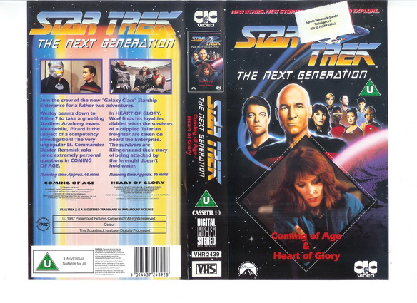 STAR TREK TNG Vol 10 (VHS)(UK-IMPORT)