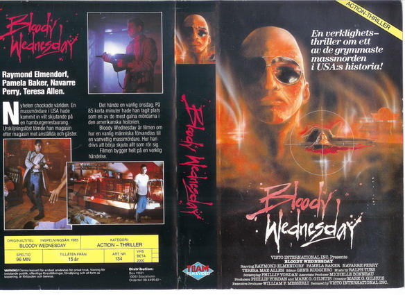 134 BLOODY WEDNESDAY (vhs)
