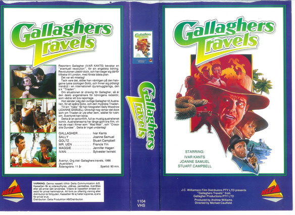 1104-GALLAGHERS TRAVELS (VHS)