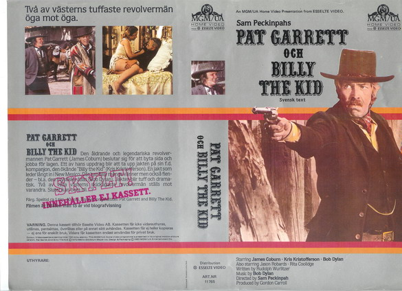11765 PAT GARETT OCH BILLY THE KID (vhs)