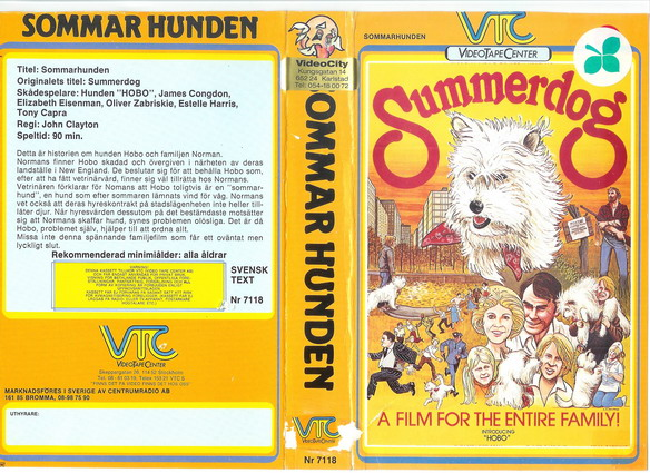 VTC orange 7118 sommarhunden (VHS)