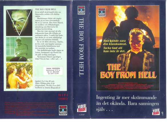 BOY FROM HELL (VHS)