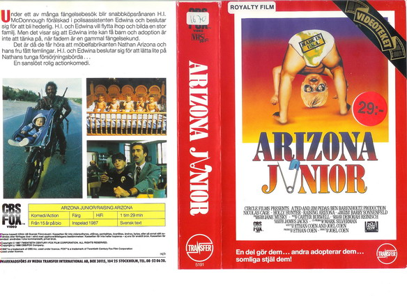 ARIZONA JUNIOR (VHS)