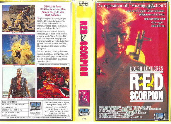 317 Red Scorpion (VHS)