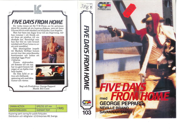 103 FIVE DAYS FROM HOME (VHS)