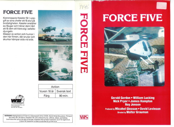 FORCE FIVE (VHS)