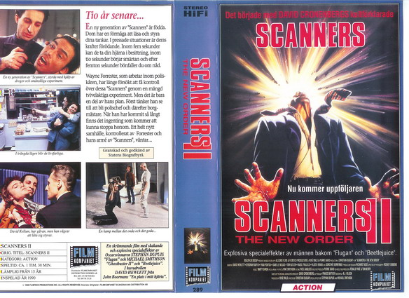 289 Scanners 2 (VHS)