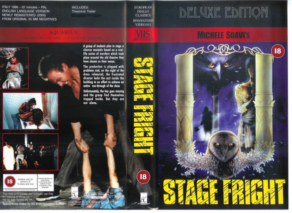 STAGE FRIGHT (VHS) Ec