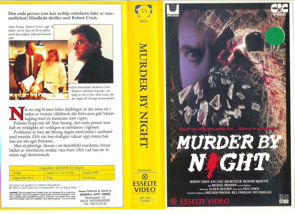 MURDER BY NIGHT (VHS)