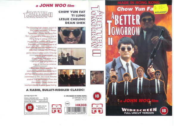 A BETTER TOMORROW 2 (VHS)