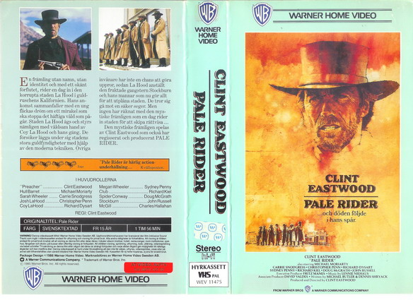 PALE RIDER (VHS)